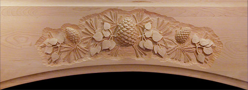Custom wood carving relief woodcarving