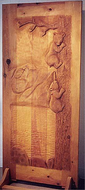 Carved By Ramsey Carved Wood Doors Wildlife Carving