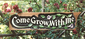 Hand Carved Garden Sign