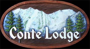 Custom Mountain Scene Sign