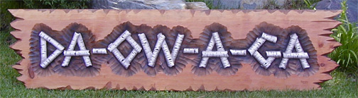 Native American Hand Carved Sign