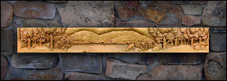 Carved Ramsey Wood Fireplace Mantels Woodcarving