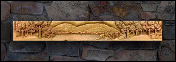 Deer Maple Mantel