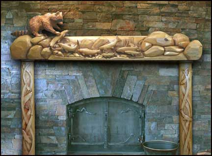 Wood Fireplace Mantels,