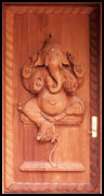 Lord Ganesha Carved Door