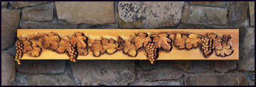 Carved Wine Grape Mantel