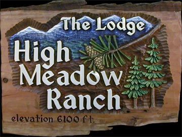 Hand Carved Ranch Sign