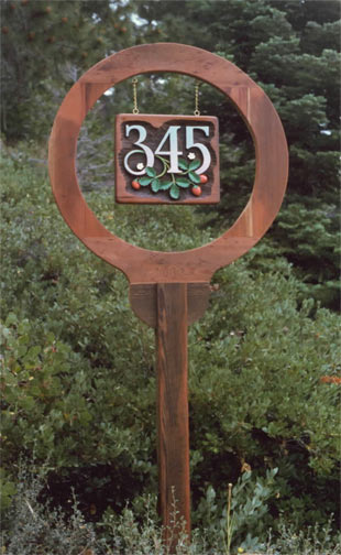 Custom wood sign post