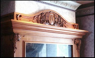 Wine Grape Monogram Mantel