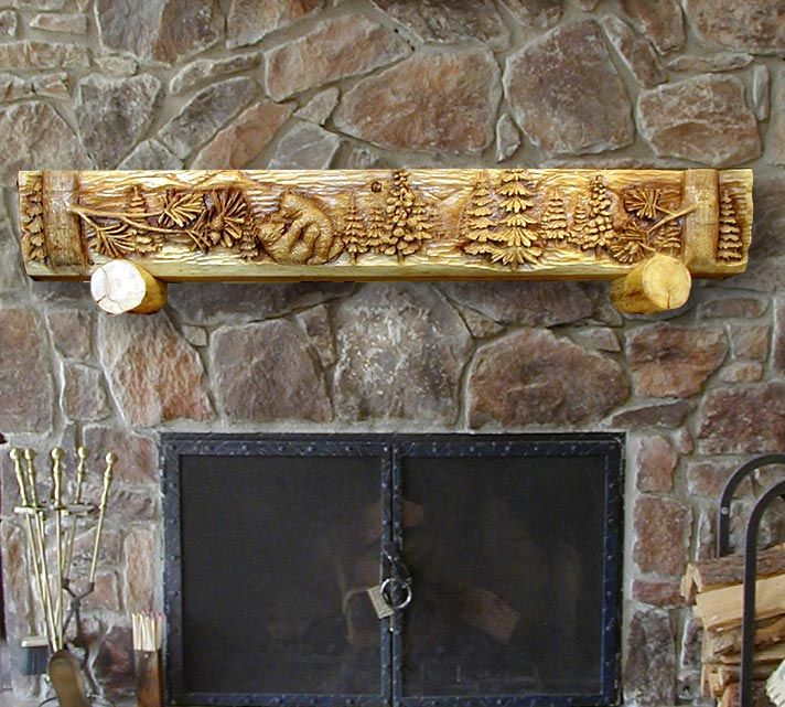 Wood mantels hand hewn timber mantel reclaimed wood for Ramsey fireplace