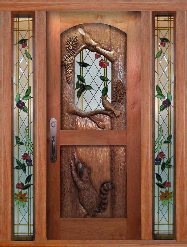 Rac Blue Jay Carved Door